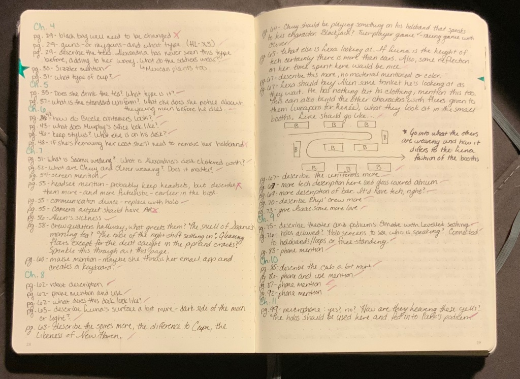 Picture of notes from every page.